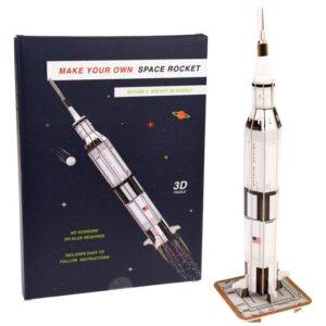 3D puzzel raket in elkaar gezet