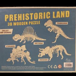 3D puzzel Tyrannosaurus rex london doos