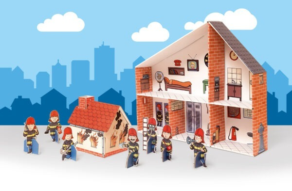 Speelgoed Brandweerkazerne met brandweermannen