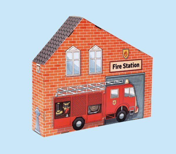 kartonnen speelgoed Brandweerkazerne