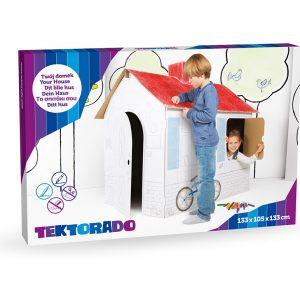 Kartonnen speelhuis doos