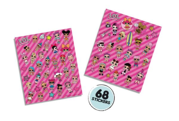 LOL Glitter stickers 2 stickervellen