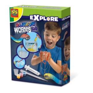SES rainbow worms lab knutselen cadeau jongen