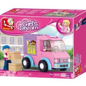 Sluban bouwset voor meisjes Bezorgwagen