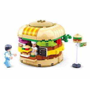 Sluban bouwset Hamburger Kraam, alternatief voor lego
