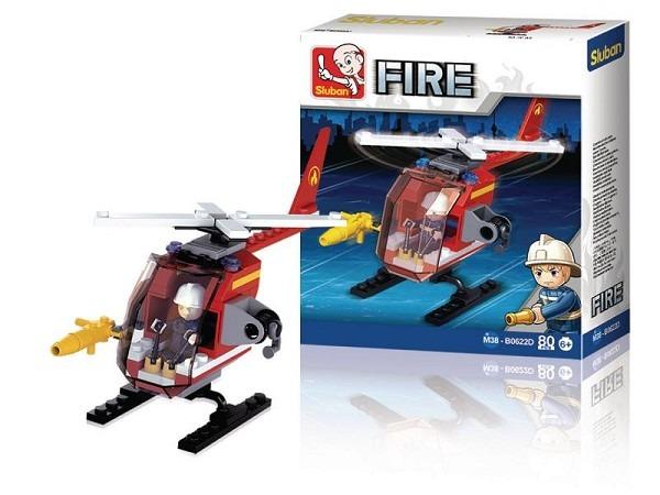 Sluban bouwset voor jongens brandweerhelicopter