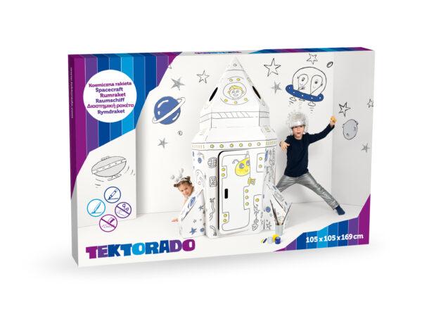Kartonnen speelgoed raket in doos