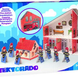 Speelgoed brandweerkazerne in doos