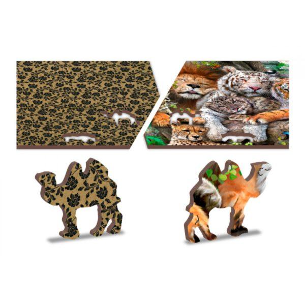 Houten dieren puzzel voor kinderen