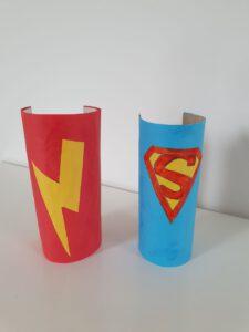 knutselen met wcrol - superhelden armband van wcrol