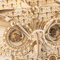 3D Houten Puzzel Uil - Pennenbakje