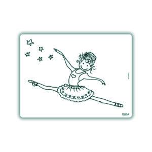 Voorbeeld herkleurbare placemat ballerina