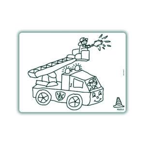 Voorbeeld herkleurbare placemat brandweer