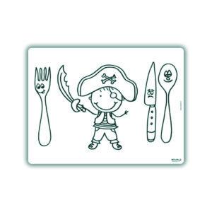 Voorbeeld herkleurbare placemat piraat