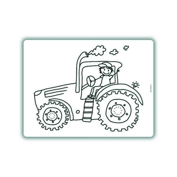 Voorbeeld herkleurbare placemat tractor