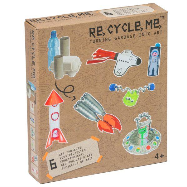 Doos van Knutselpakket om met gerecyclede materialente knutselen