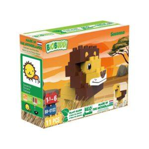 BiOBUDDi bouwblokjes leeuw Savanna