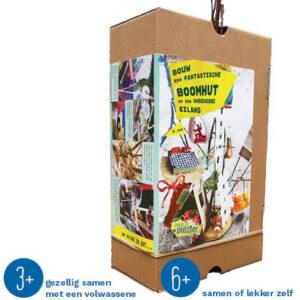 Duurzaam knutselpakket boomhut knutselen
