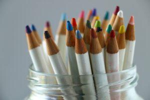 hergebruik leeg potje van glas voor potloden