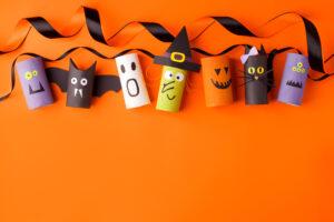 knutselen met wcrol Halloween knutselwerk