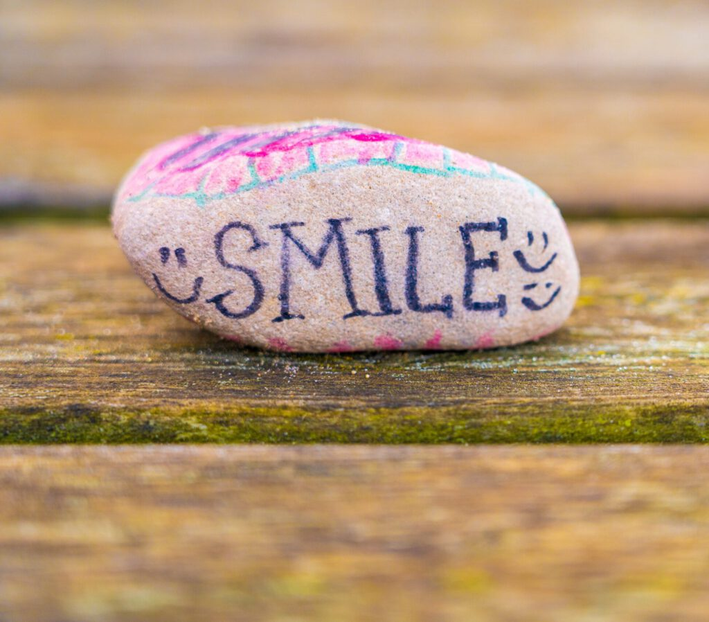 happy stone smile