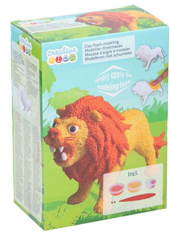 Creative Kids schuimklei junior leeuw 5-delig