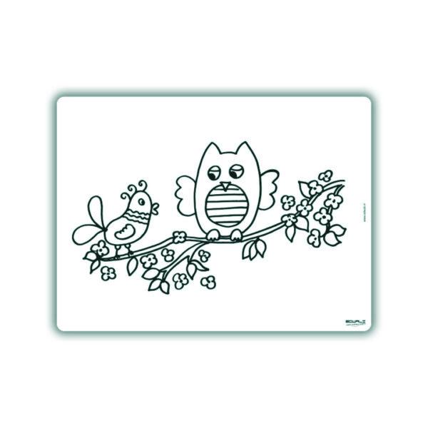 Herkleurbare placemat Hedwig de Uil