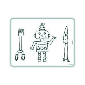 Herkleurbare placemat Robot Slimpie