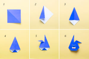 origami voor kinderen instructies konijn