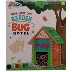 Grafix maak je eigen insectenhotel junior hout 26-delig