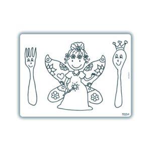 Herkleurbare placemat Vlinder Elfje