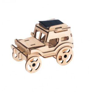 houten Jeep op zonne-energie