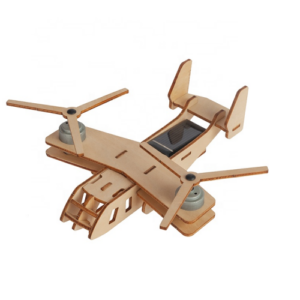houten vliegtuig op zonne-energie