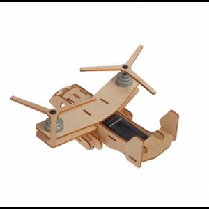 houten vliegtuig op zonne-energie bovenkant