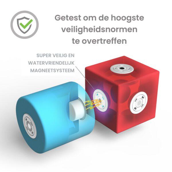 Blockaroo robot box-10 stuks-zacht magnetisch speelgoed