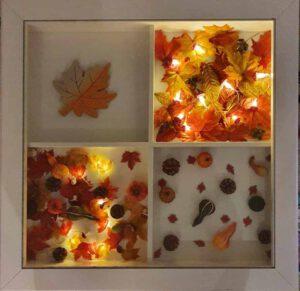 tafel met herfstdecoratie